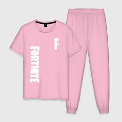 Пижама хлопковая мужская FORTNITE цвета светло-розовый — фото 1
