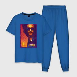 Пижама хлопковая мужская Le Truk aka Detsl цвета синий — фото 1