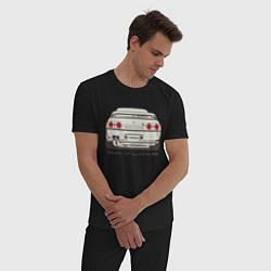 Пижама хлопковая мужская Nissan Skyline R32 цвета черный — фото 2