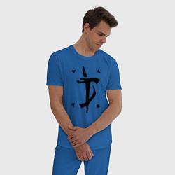 Пижама хлопковая мужская DOOM Slayer цвета синий — фото 2