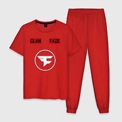 Пижама хлопковая мужская FAZE CLAN цвета красный — фото 1