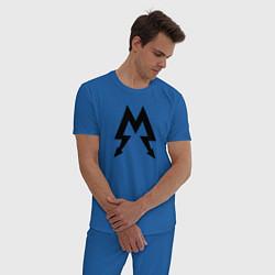 Пижама хлопковая мужская Metro: Sparta цвета синий — фото 2