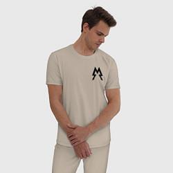 Пижама хлопковая мужская Metro: Sparta цвета миндальный — фото 2