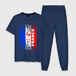 Пижама хлопковая мужская France Team цвета тёмно-синий — фото 1