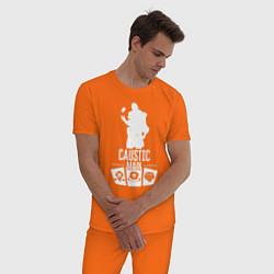 Пижама хлопковая мужская AL: Caustic Main цвета оранжевый — фото 2