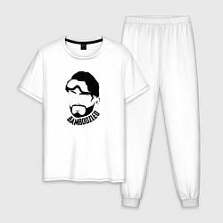 Пижама хлопковая мужская Apex Legends: Bamboozied цвета белый — фото 1