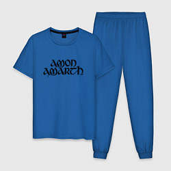 Пижама хлопковая мужская Amon Amarth цвета синий — фото 1