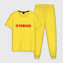 Пижама хлопковая мужская YAMAHA цвета желтый — фото 1