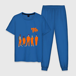 Пижама хлопковая мужская Misfits Orange цвета синий — фото 1
