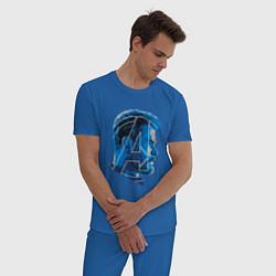 Пижама хлопковая мужская Thor: Avengers цвета синий — фото 2