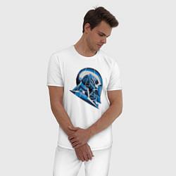 Пижама хлопковая мужская War Machine: Avengers цвета белый — фото 2
