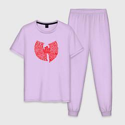 Пижама хлопковая мужская WU TANG CLAN цвета лаванда — фото 1
