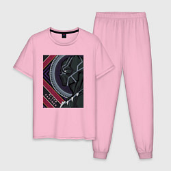 Пижама хлопковая мужская Black panther цвета светло-розовый — фото 1