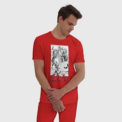 Пижама хлопковая мужская Marvel: The Avengers цвета красный — фото 2