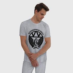Пижама хлопковая мужская ЖДВ цвета меланж — фото 2