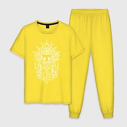 Пижама хлопковая мужская Hollow Knight цвета желтый — фото 1