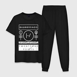 Пижама хлопковая мужская 21 Pilots: Blurryface цвета черный — фото 1