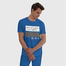 Пижама хлопковая мужская TOP: Lane Boy цвета синий — фото 2