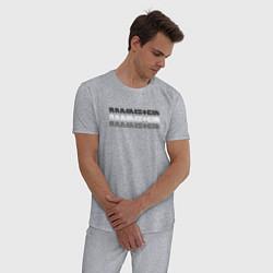 Пижама хлопковая мужская Rammstein Shadows цвета меланж — фото 2