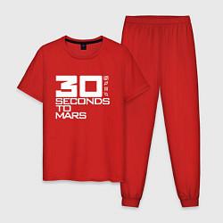 Пижама хлопковая мужская 30 SECONDS TO MARS цвета красный — фото 1