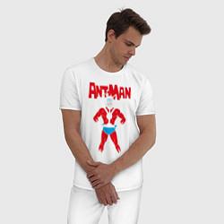Пижама хлопковая мужская Ant-man цвета белый — фото 2
