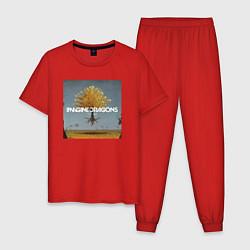 Пижама хлопковая мужская IMAGINE DRAGONS цвета красный — фото 1