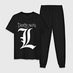 Пижама хлопковая мужская DEATH NOTE цвета черный — фото 1