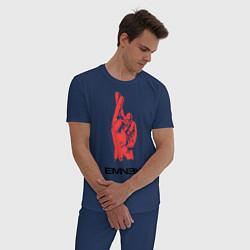 Пижама хлопковая мужская Eminem Hand цвета тёмно-синий — фото 2