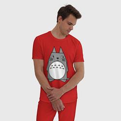 Пижама хлопковая мужская Toto origami цвета красный — фото 2