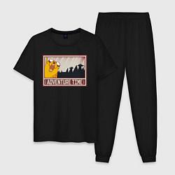 Пижама хлопковая мужская Adventure time цвета черный — фото 1
