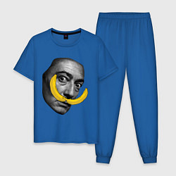 Пижама хлопковая мужская Дали с бананами цвета синий — фото 1