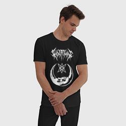 Пижама хлопковая мужская GHOSTEMANE НА СПИНЕ цвета черный — фото 2