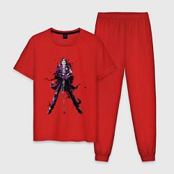 Пижама хлопковая мужская The Clown Prince of Crime цвета красный — фото 1