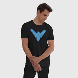 Пижама хлопковая мужская Nightwing цвета черный — фото 2