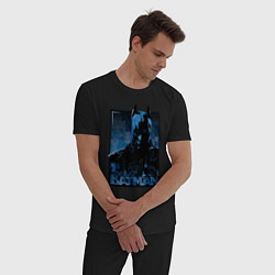 Пижама хлопковая мужская Batman цвета черный — фото 2