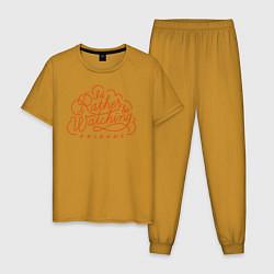 Пижама хлопковая мужская Friends цвета горчичный — фото 1