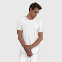 Пижама хлопковая мужская SAYONARA BOY цвета белый — фото 2