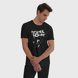 Пижама хлопковая мужская My Chemical RomanceРО цвета черный — фото 2