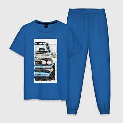 Пижама хлопковая мужская HAKOSUKA GT-R цвета синий — фото 1