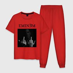 Пижама хлопковая мужская EMIN?M цвета красный — фото 1