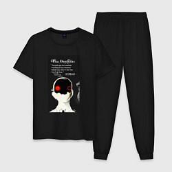 Пижама хлопковая мужская Three Days Grace цвета черный — фото 1