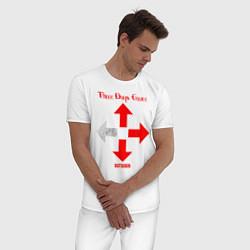 Пижама хлопковая мужская Three Days Grace цвета белый — фото 2