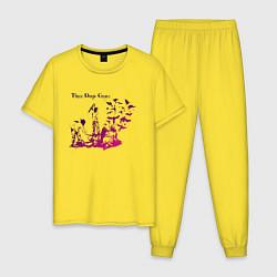 Пижама хлопковая мужская Three Days Grace цвета желтый — фото 1