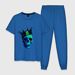 Пижама хлопковая мужская Skeleton King цвета синий — фото 1