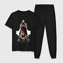 Пижама хлопковая мужская ASSASSINS CREED цвета черный — фото 1