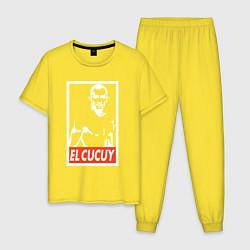 Пижама хлопковая мужская EL CUCUY цвета желтый — фото 1