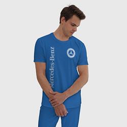 Пижама хлопковая мужская MERCEDES цвета синий — фото 2