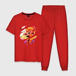 Пижама хлопковая мужская НАРУТО цвета красный — фото 1