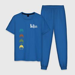Пижама хлопковая мужская Beatles цвета синий — фото 1