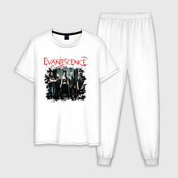Пижама хлопковая мужская Evanescence цвета белый — фото 1